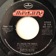 KURTIS BLOW:IF I RULED THE WORLD(LABEL SIDE-A)