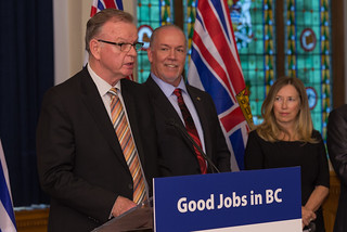 Premier John Horgan delivered a message of strong support, including lower taxes, to help kick off Small Business Week and Manufacturing Week (Oct. 16 to Oct. 20).