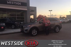 Happy Anniversary to Patricia on your #Kia #Sorento from Dennis Celespara at Westside Kia!