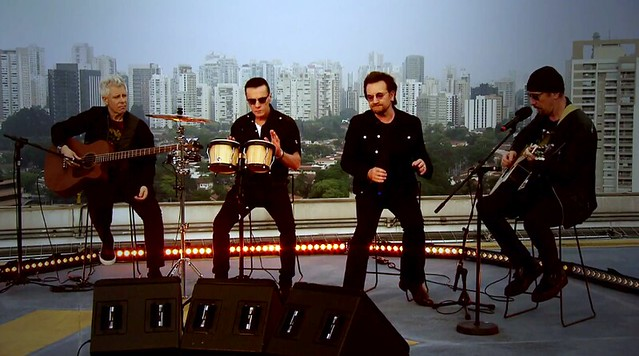 U2 on Brazilian TV show, Fantastico