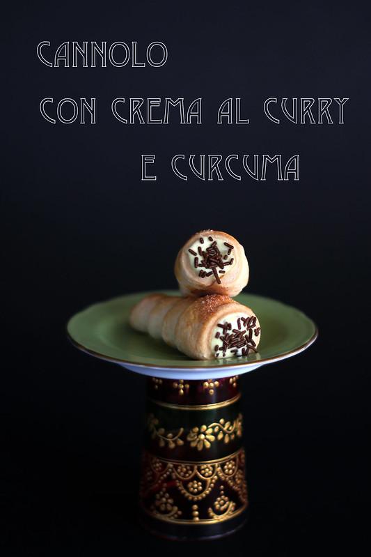 cannolo con crema al curry&curcuma
