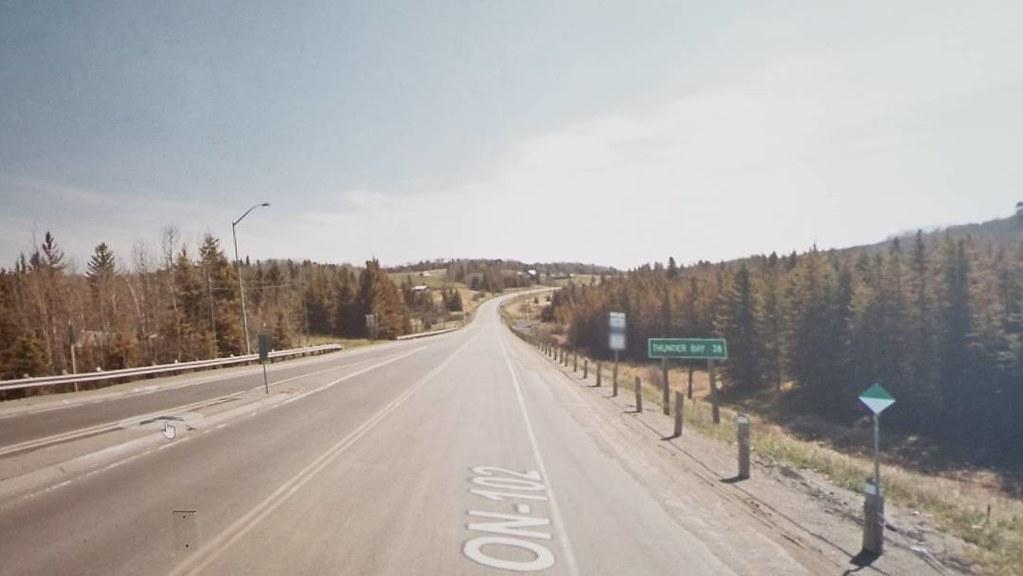 Thunder Bay 38 km. #ridingthroughwalls #xcanadabikeride #googlestreetview #ontario