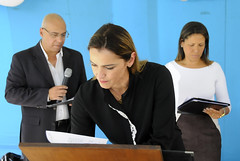 Ana Laender participa de assinatura de convênio na UMEI 1º de Maio