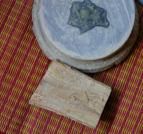 Thanaka wood and Kyauk pyin stone slab