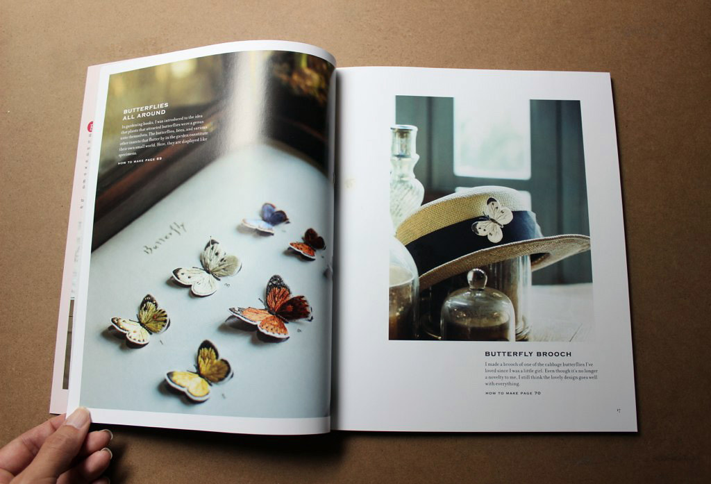 Butterfly brooches in The Embroidered Garden by Kazuko Aoki, reviewed by floresita on Feeling Stitchy