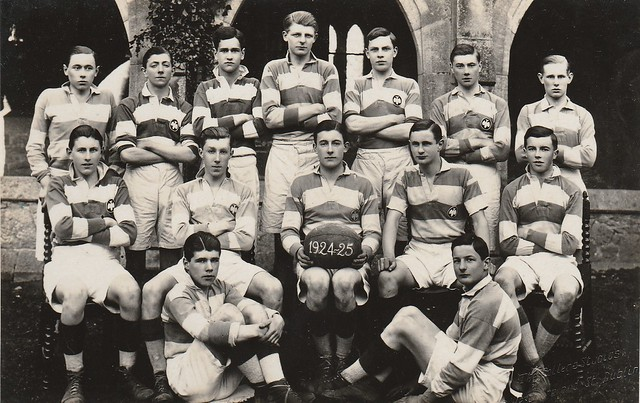 Rugby team, 1925. Middle row 2nd from right J.D. Gwynn (1)