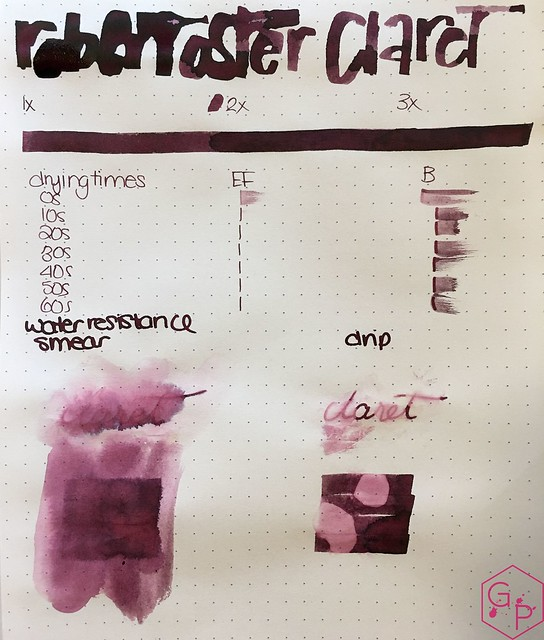 Ink Shot Review @RobertOsterInk Claret @MilligramStore 3