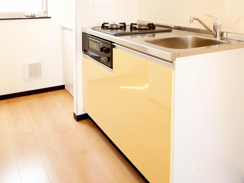 キッチン・横1200sizeのグリル付きガスキッチン