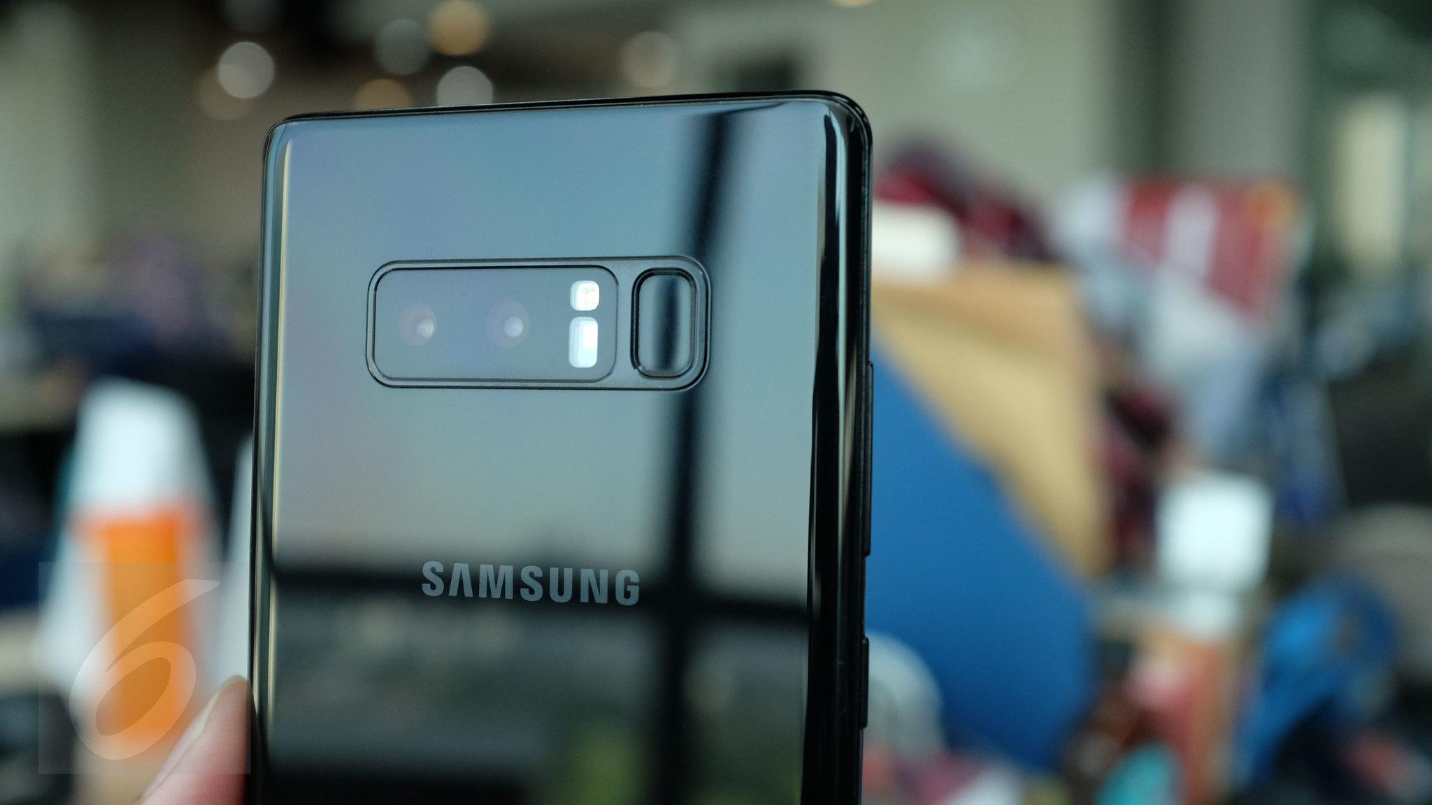 Kamera belakang Galaxy Note 8. Liputan6.com/ Iskandar