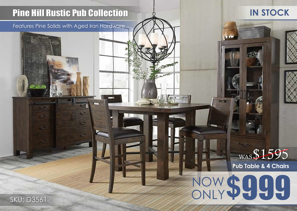 Pine Hill Pub Dining Set D3561