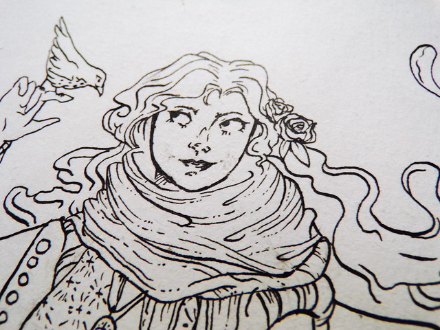 Inktober 2017, Day 5: Allouét - Detail | Hedgefairy https://hedgefairy.wordpress.com