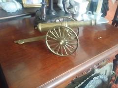 Antique Cold Cast Brass Cannon