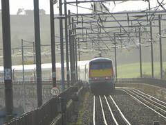 91104 leaves Berwick-upon-Tweed (18/10/17)