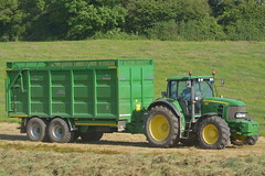 John Deere 7530 Tractor with a Broughan Engineering Mega HiSpeed Trailer