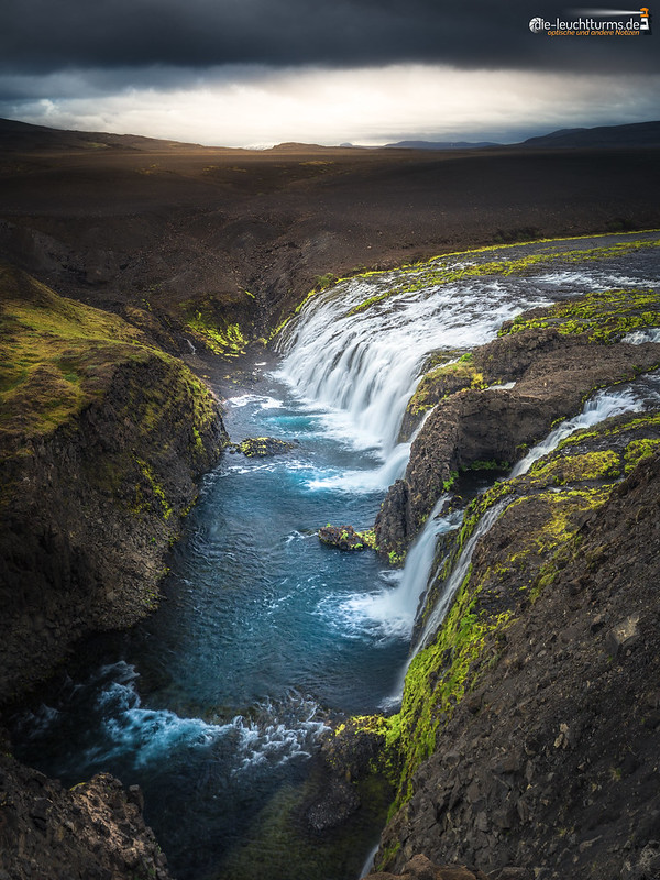Fagrifoss in evening colors