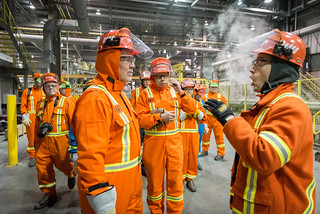 Premier John Horgan celebrated the one-year anniversary of the new Rio Tinto smelter going into operation in Kitimat today.