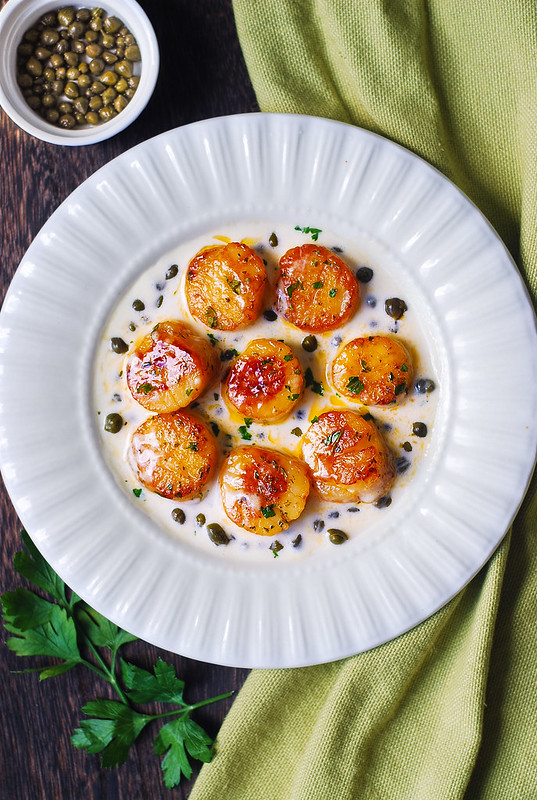 best scallops, easy scallop recipe, how to cook scallops on stove top, perfect seared scallops