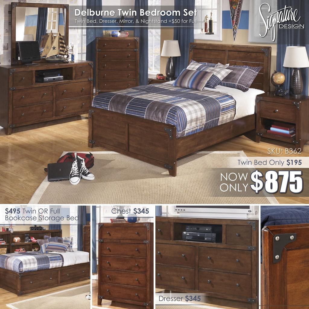 Delburne Twin Bedroom Collage_B362