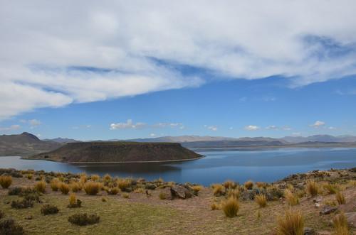 Blick über die Lagune von Umayo.
