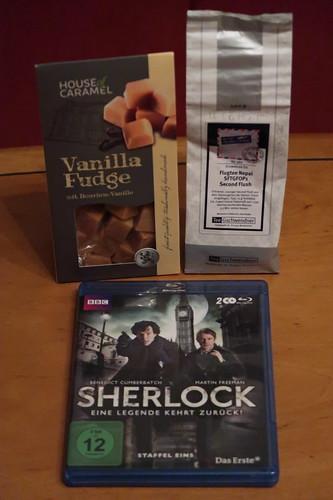 """Fudge und Tee zur ersten Folge der BBC-Serie """"Sherlock"""""""