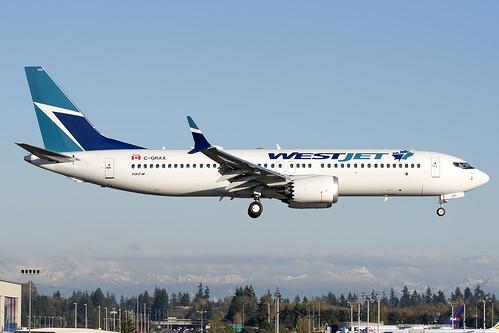 Westjet Boeing 737-8 Max C-GRAX
