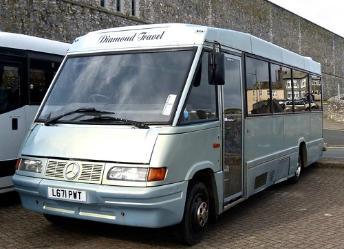 L671 PWT 'Diamond Travel' Mercedes-Benz 814D / Optare Starrider on 'Dennis Basford's railsroadsrunways.blogspot.co.uk'