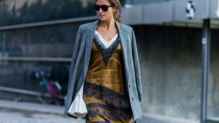 plaid blazer street style trend style outfit 2017 accessories denim9