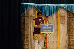 R Ashok talking at the event