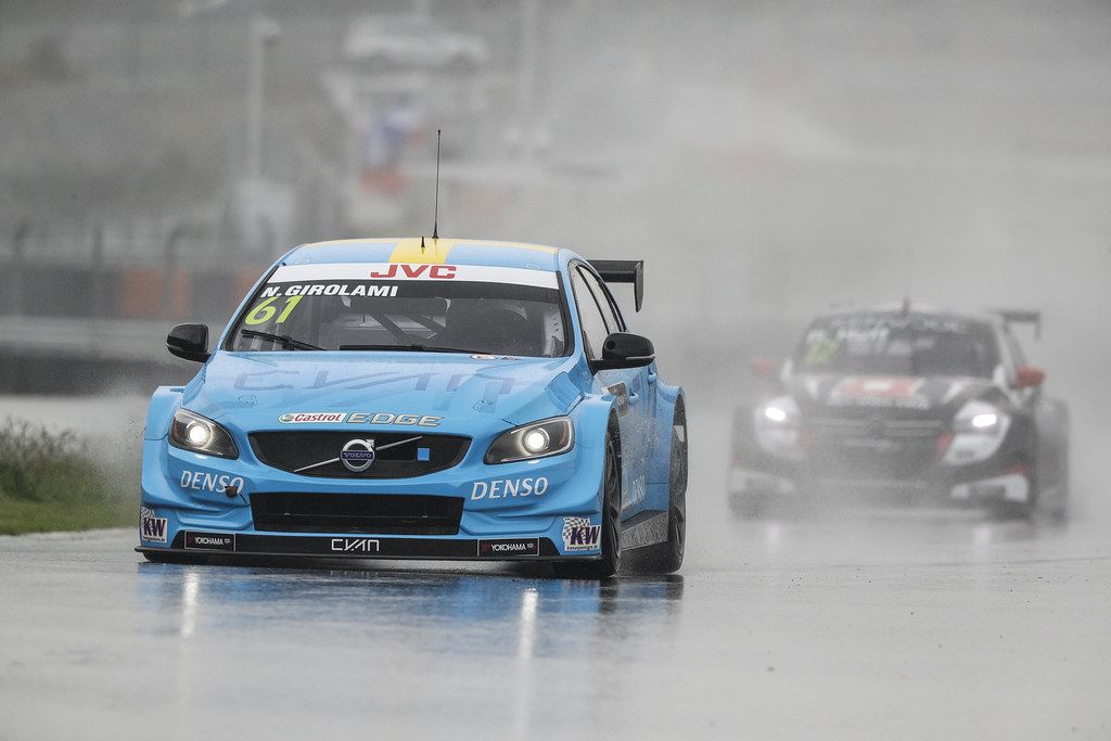 61 GIROLAMI Nestor (arg) Volvo S60 Polestar team Polestar Cyan Racing action   during the 2017 FIA WTCC World Touring Car Championship at Ningbo, China, October 13 to 15 - Photo Frederic Le Floc'h / DPPI