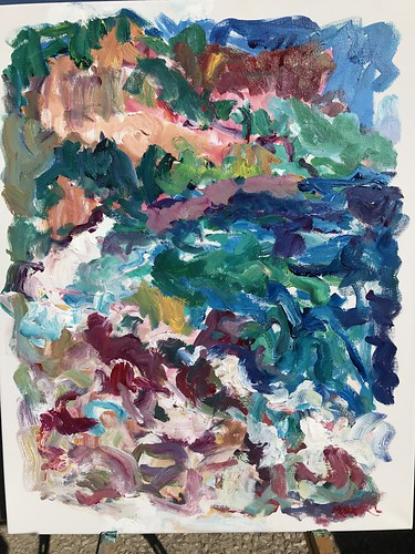 Plage de la Grand Mer, Cassis, 2017, 30x24, acrylic on canvas