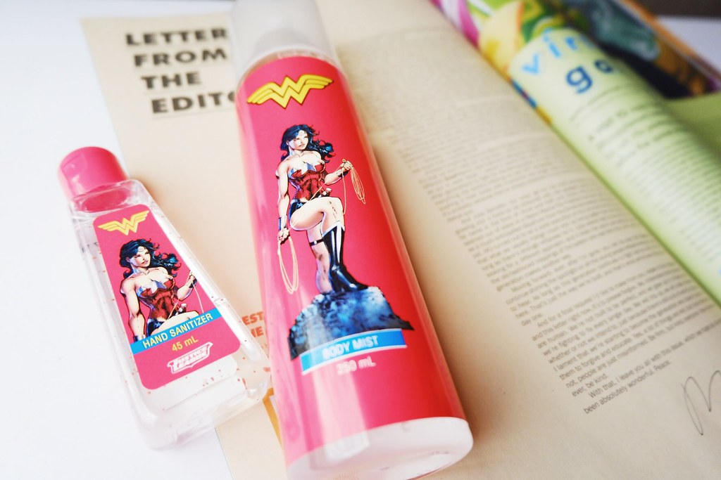 Tupperware Wonder Woman Body Mist and Hand Sanitizer