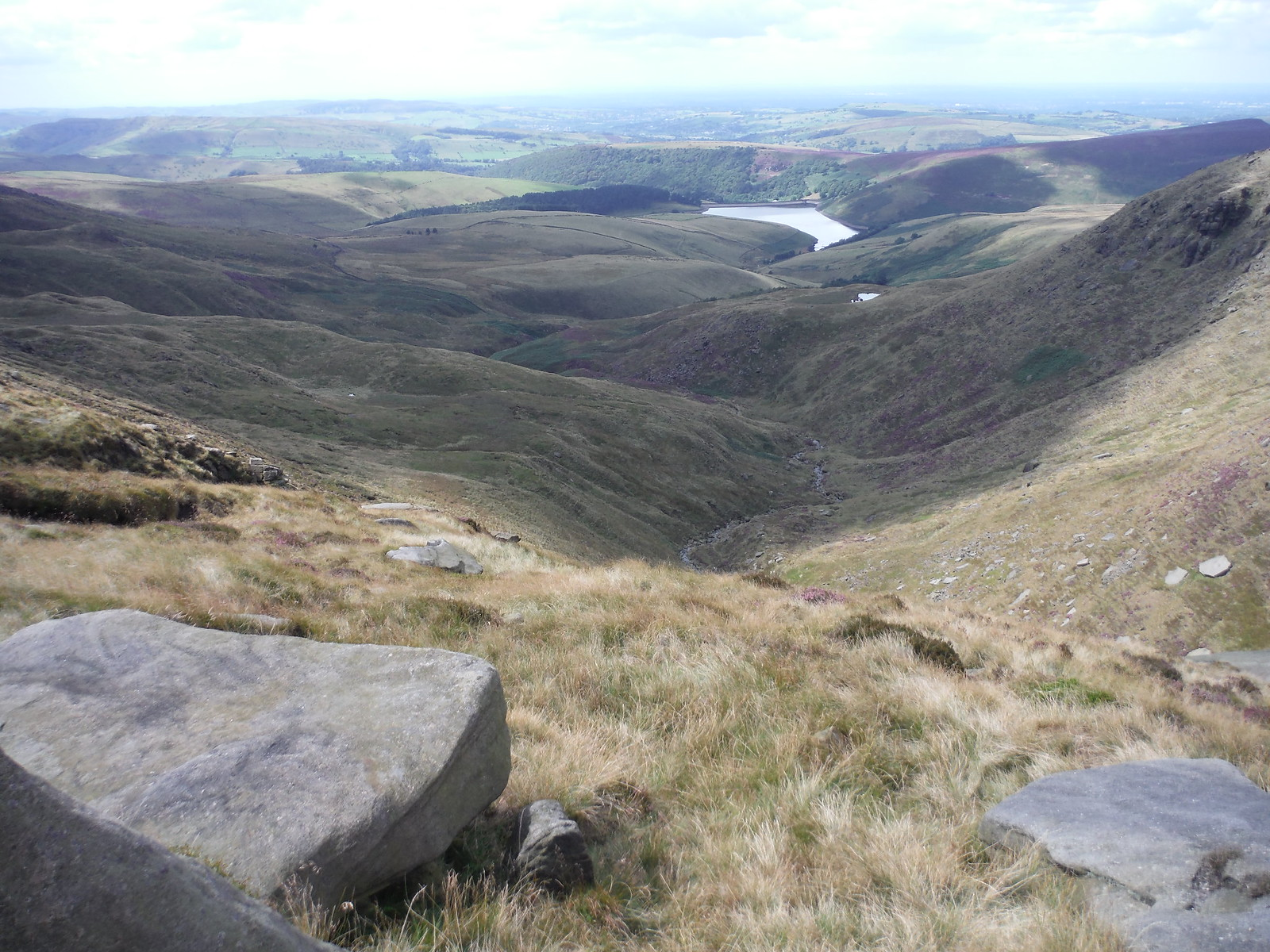 View from Kinder Downfall SWC Walk 303 - Edale Circular (via Kinder Scout and Mam Tor) [Kinder Downfall Option]