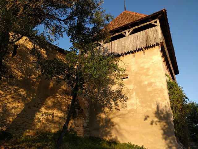 Outer walls of a Viscri - a medieval fortified church - Romania