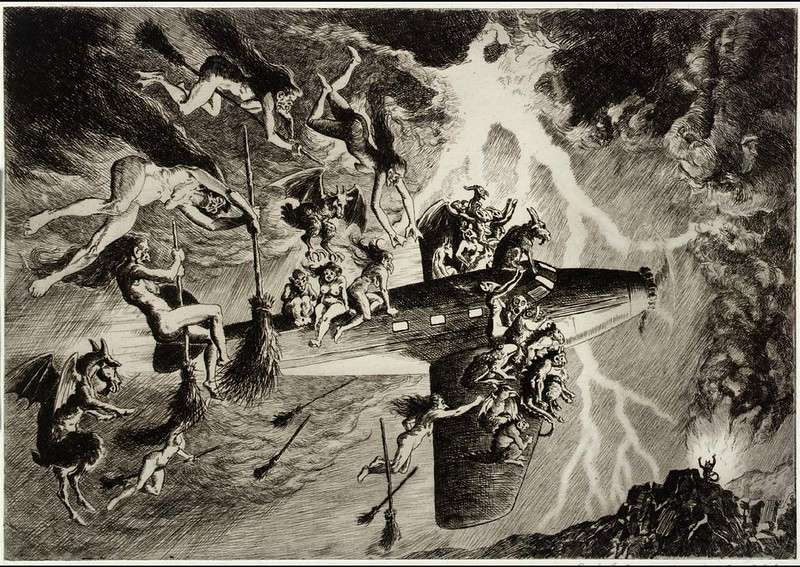 Paul F. Berdanier - The Witches' Sabbath a la Mode, 1935