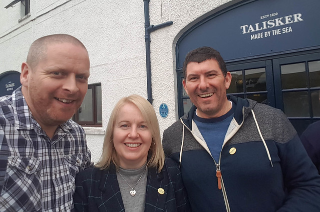 With John and Vicky at Talisker