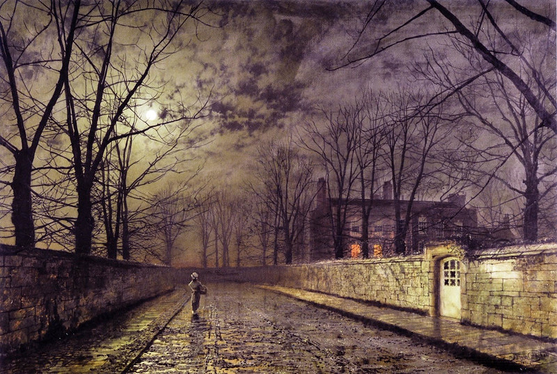 Silver Moonlight by John Atkinson Grimshaw, 1880