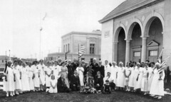 Grand Army of the Republic Women's Relief Corps at Memorial Hall, Huntington Beach, 1931