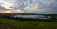 Dry crater lake