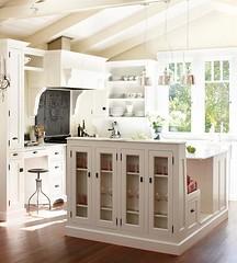 3-in-1 Kitchen Island w/ Cabinets & Banquette