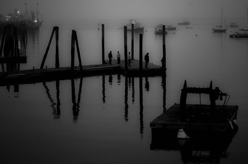 Rockland foggy dawn