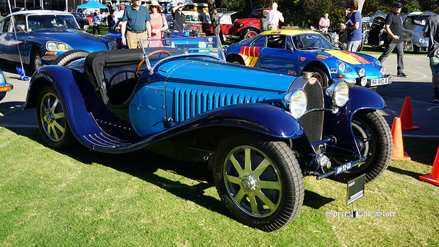 1932 Bugatti Type 55 at Red White and Blue theme Art Center Car Classic 2017