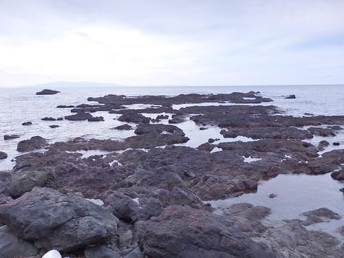 北海道最南端は本州が見える。