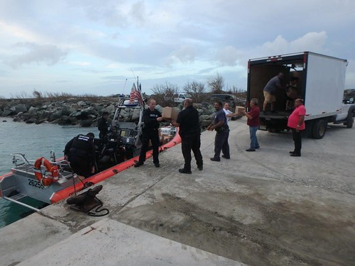 Coast Guard Cutter Donald Horsley crew delivers FEMA supplies to Vieques, Puerto Rico