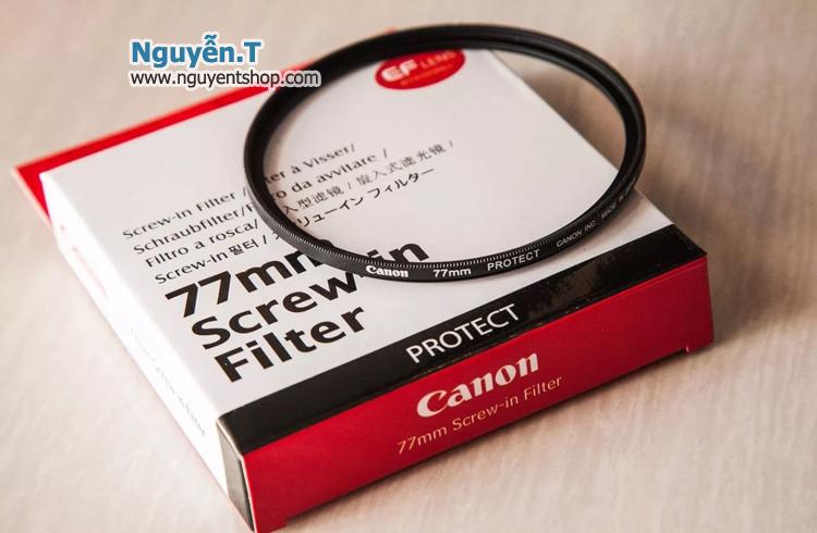 Filter kính lọc Canon protect 77mm Japan MC UV 1x