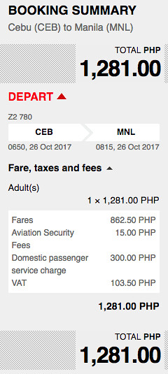 Cebu to Manila AirAsia Promo Oct 26, 2017
