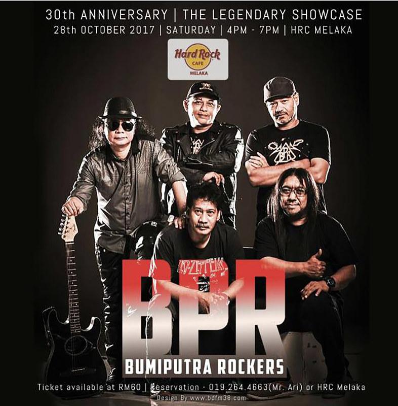 Persembahan Live Music BUMIPUTRA ROCKERS Hard Rock Cafe Melaka