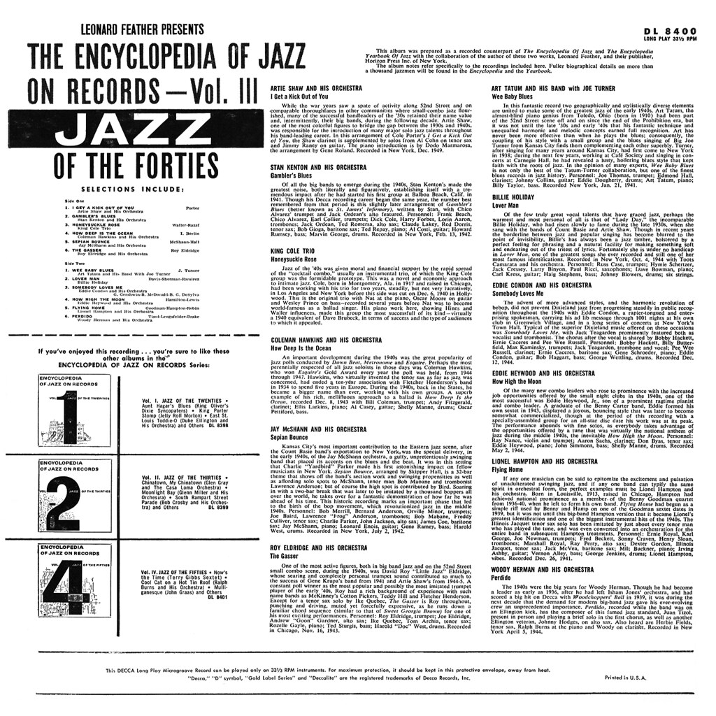Various Artists - Encyclopedia of Jazz on Records
