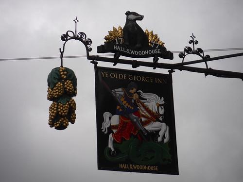 Pub Sign, Ye Olde George Inn, East Meon