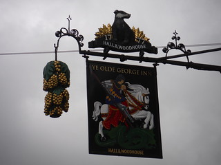 Pub Sign, Ye Olde George Inn, East Meon