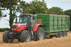 Massey Ferguson 6490 Tractor with a Broughan Engineering Mega HiSpeed Trailer